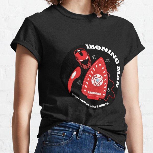 Ironing Man Shirt - Funny Ironing Man t-shirt - Husband Ironing - Boyfriend Housework - Lazy Man - Lazy Guy - Birthday - House Chores Classic T-Shirt
