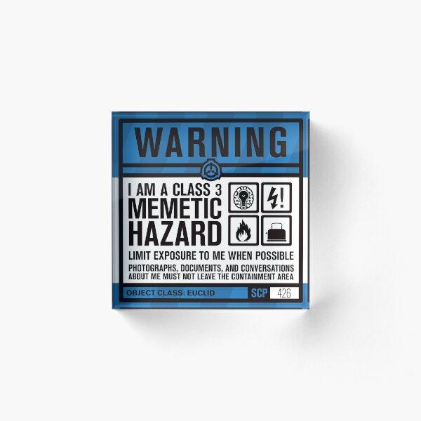 SCP 426 Warning Sign Acrylic Block
