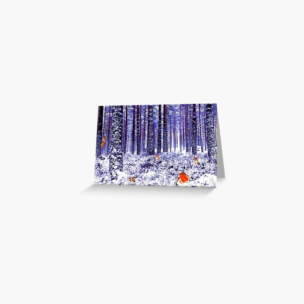 Winter Wonderland Greeting Card (Blank) Greeting Card