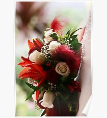 Bouquet of Red and White Poster