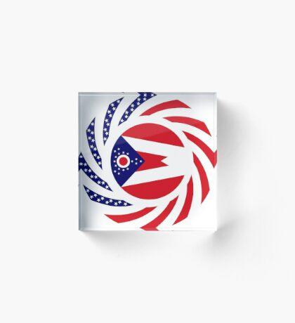 Ohio Murican Patriot Flag Series Acrylic Block