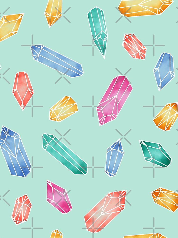 Crystals pattern - Light Green by PrintablesP