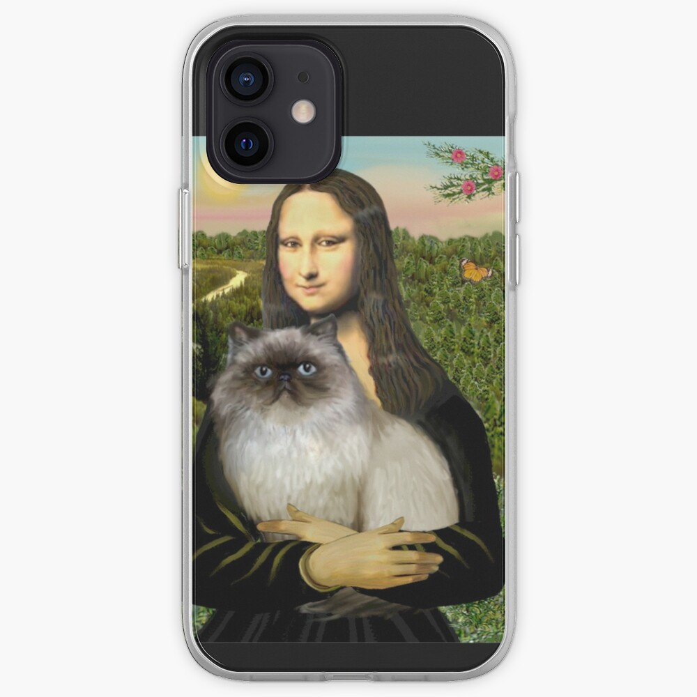 Mona Lisa and her Himalayan cat iPhone Case & Cover