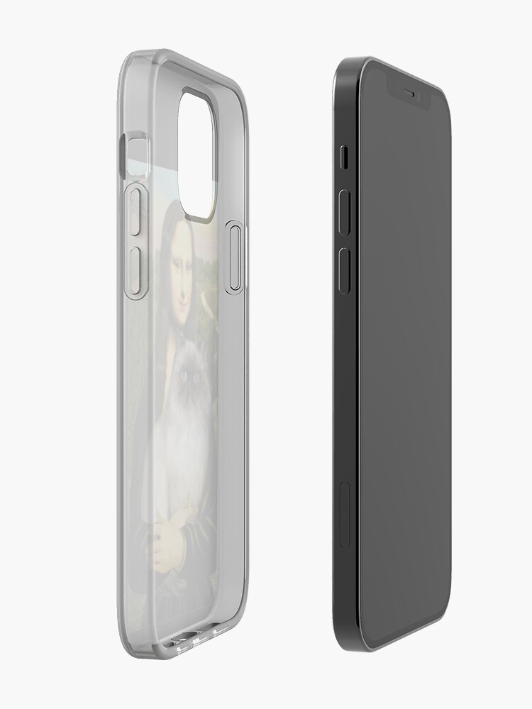 Alternate view of Mona Lisa and her Himalayan cat iPhone Case & Cover
