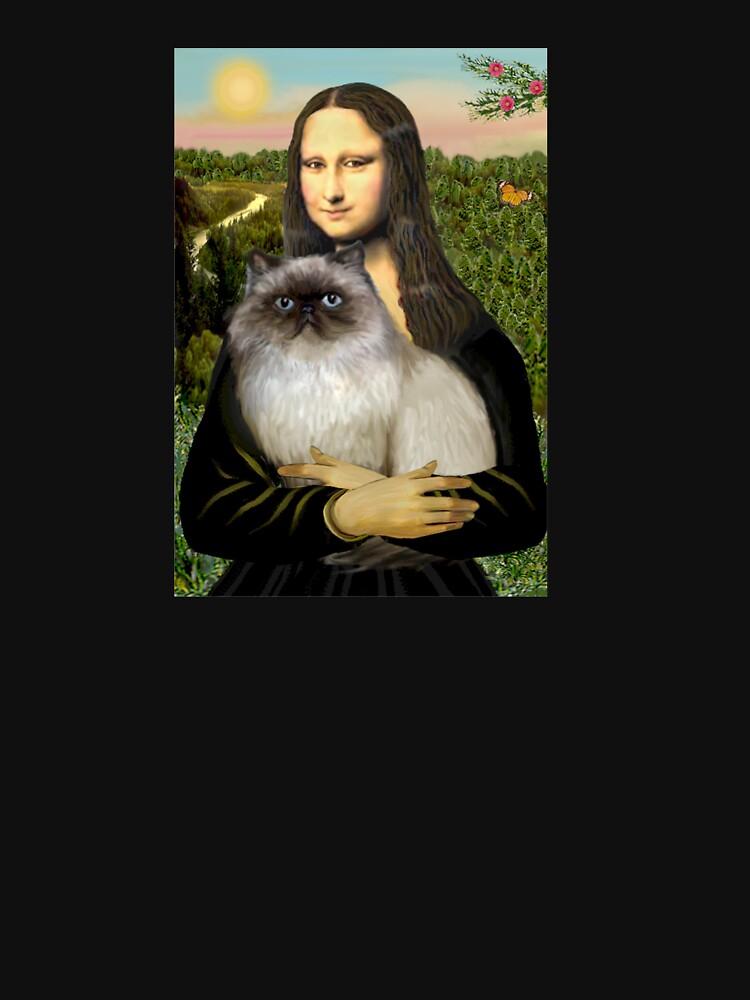 Mona Lisa and her Himalayan cat by JeanBFitzgerald