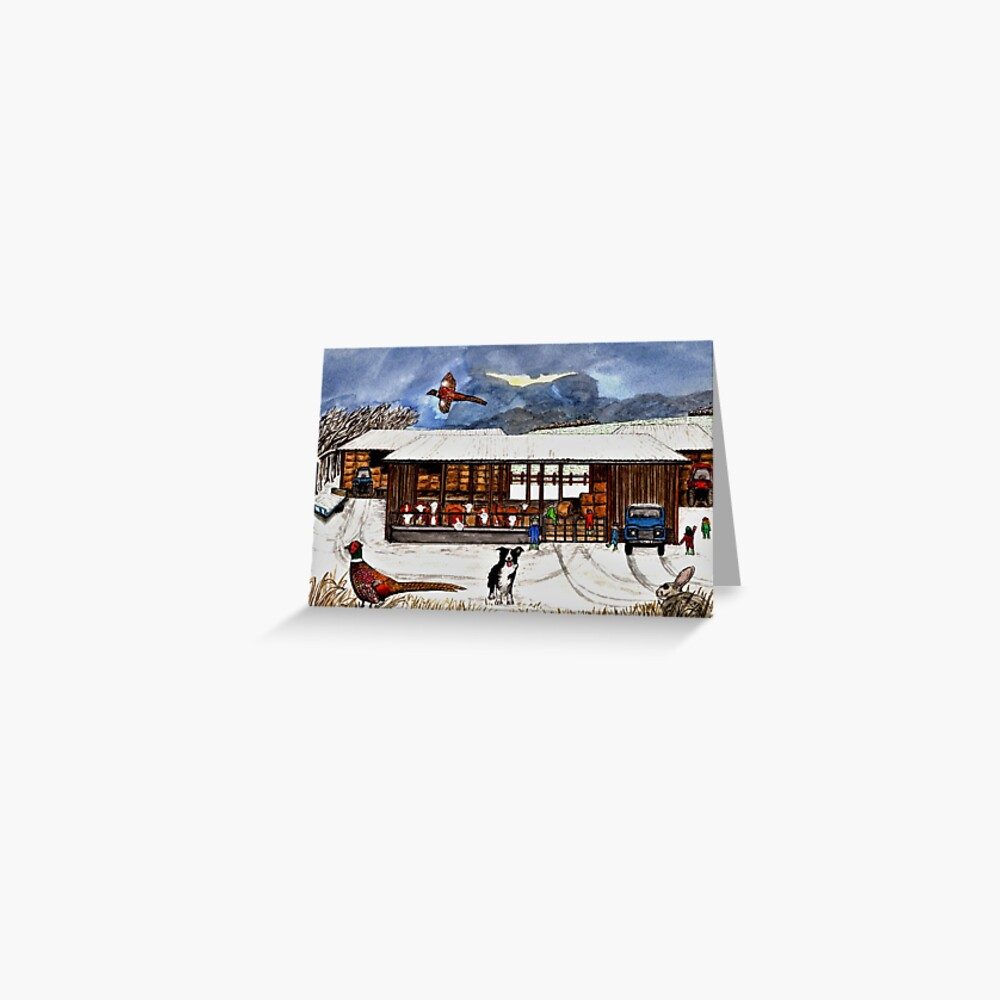 Winter Life Greeting Card (Blank) Greeting Card