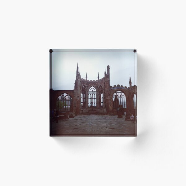 Coventry Old Cathedral Acrylic Block