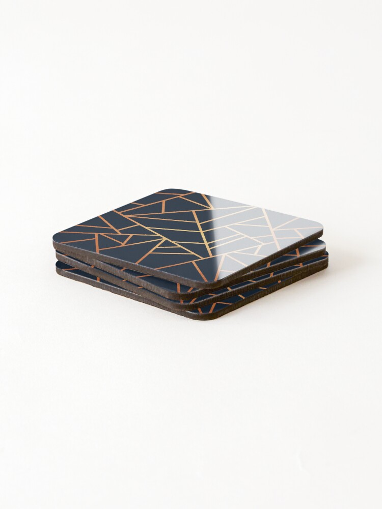 Alternate view of Copper and Midnight Navy Coasters (Set of 4)