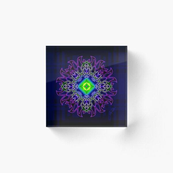 Wand Flower Acrylic Block