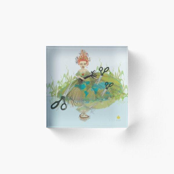 lady regina  series:  heart strings Acrylic Block