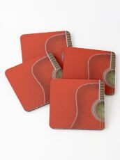 Red Guitar Coasters