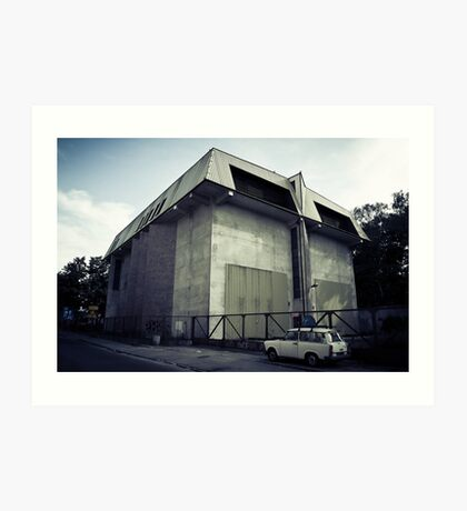 a substation and a trabant Art Print