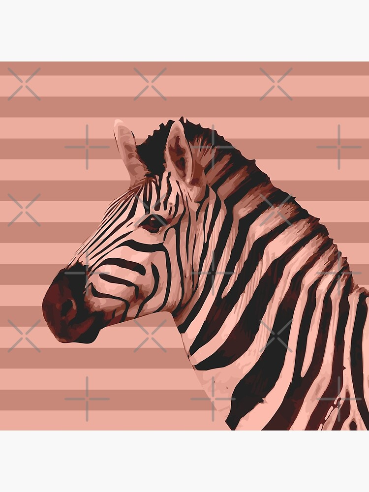 [Animals & Stripes] Peach zebra by PrintablesP