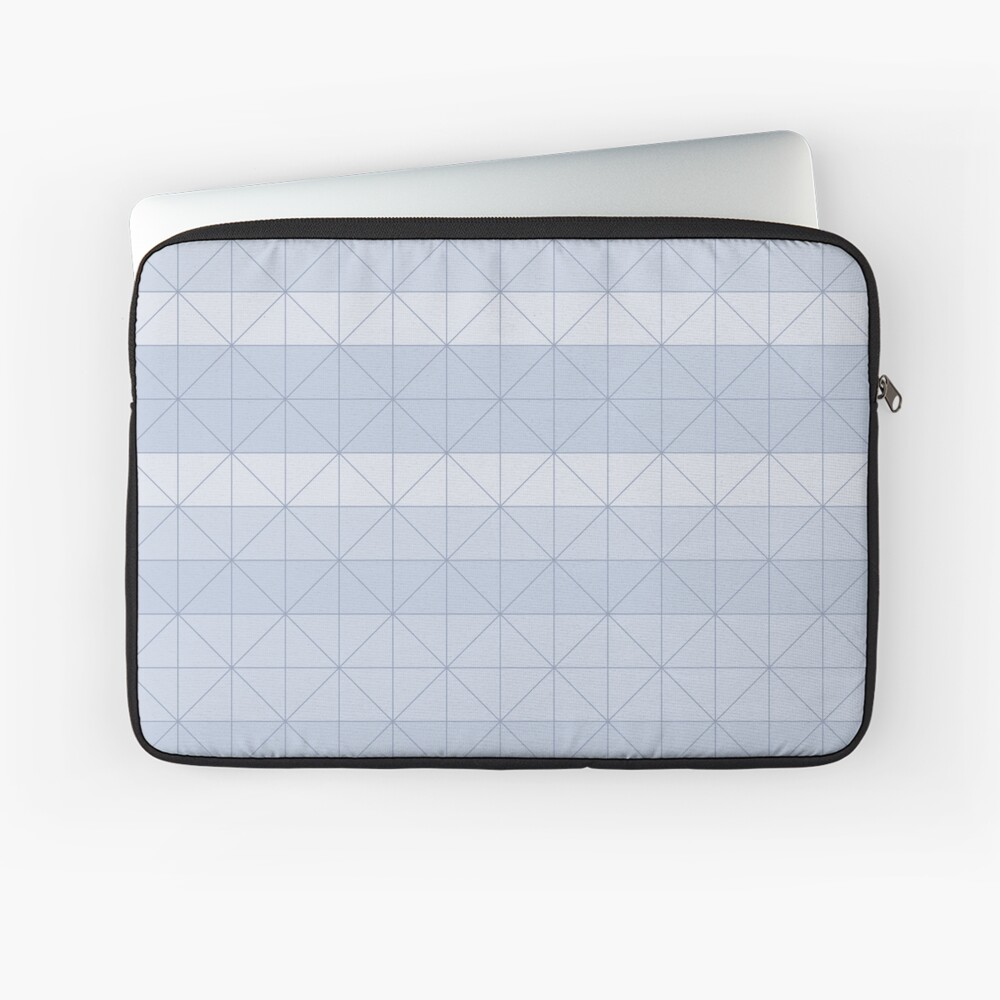 Geometric pattern light blue Laptop Sleeve