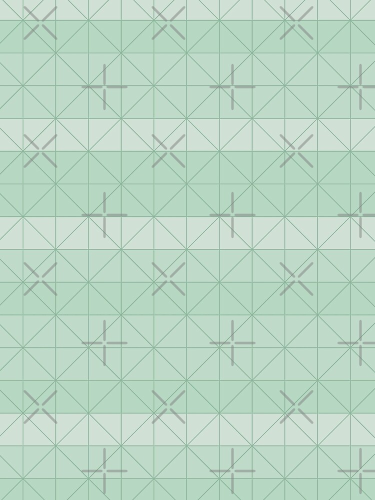 Geometric pattern mint green by PrintablesP