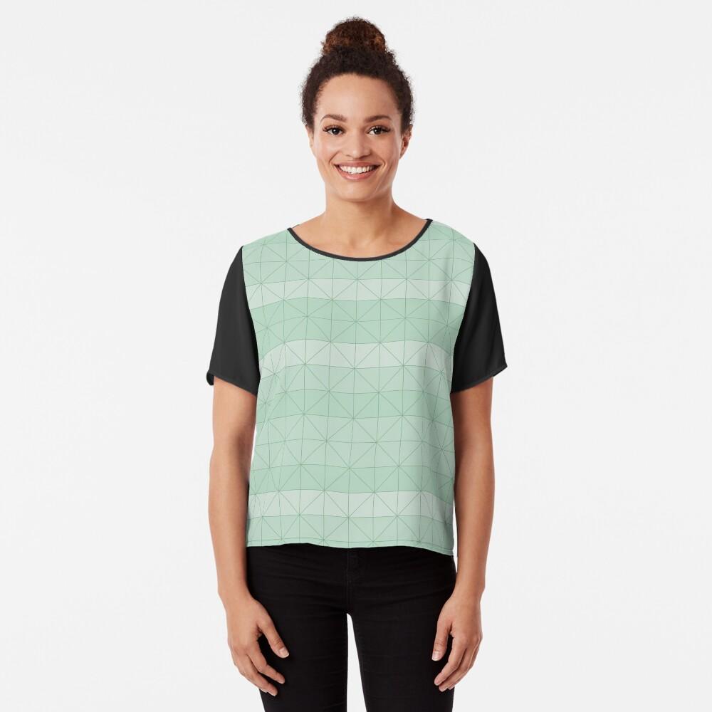 Geometric pattern mint green Chiffon Top
