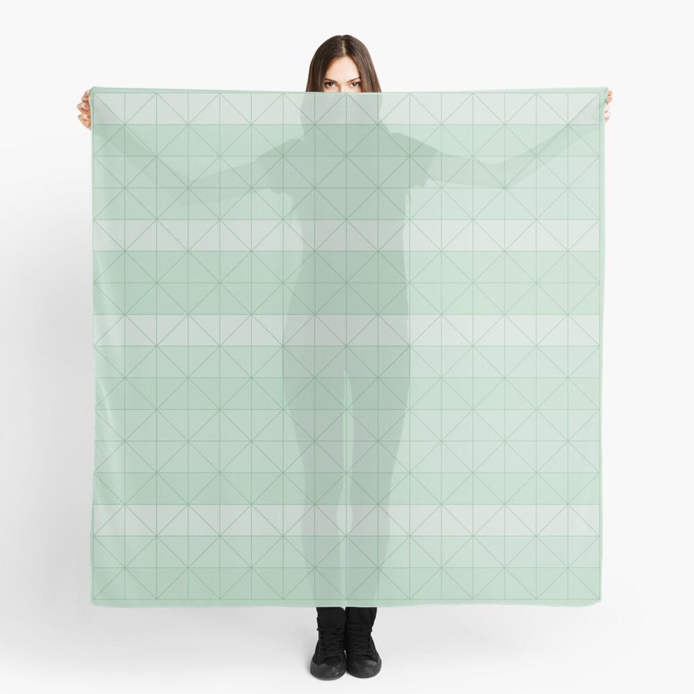 Geometric pattern mint green Scarf
