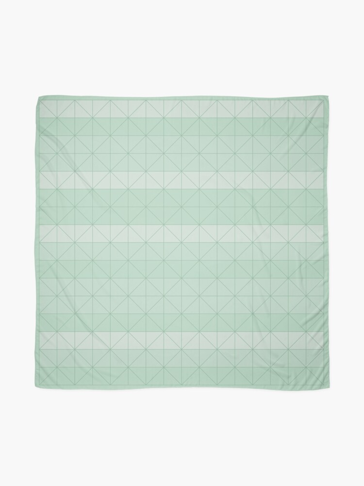 Alternate view of Geometric pattern mint green Scarf