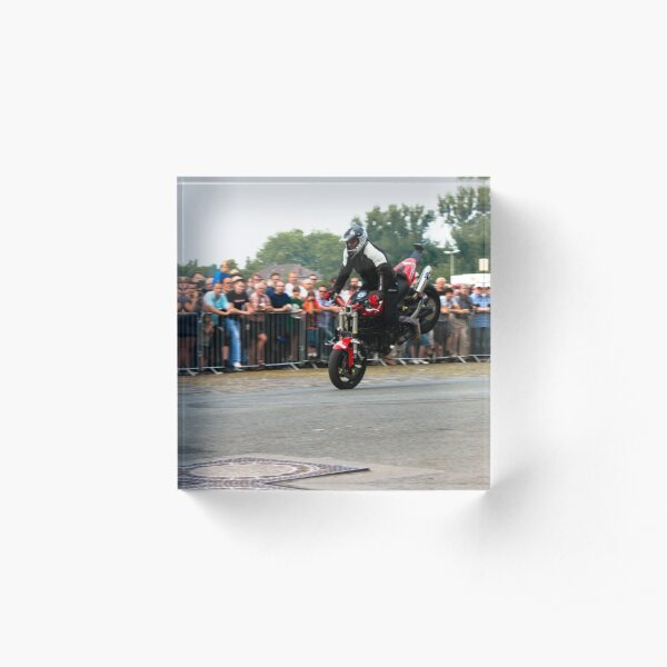 motorcycle stunt 001 Acrylic Block