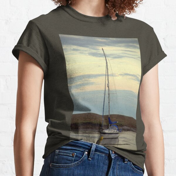 Boat at Anchor, Burnham-Overy-Staithe, N Norfolk. Classic T-Shirt