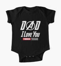 Body de manga corta para bebé I Love You 3000 T-shirt, papá I-Will Three Thousand Shirt