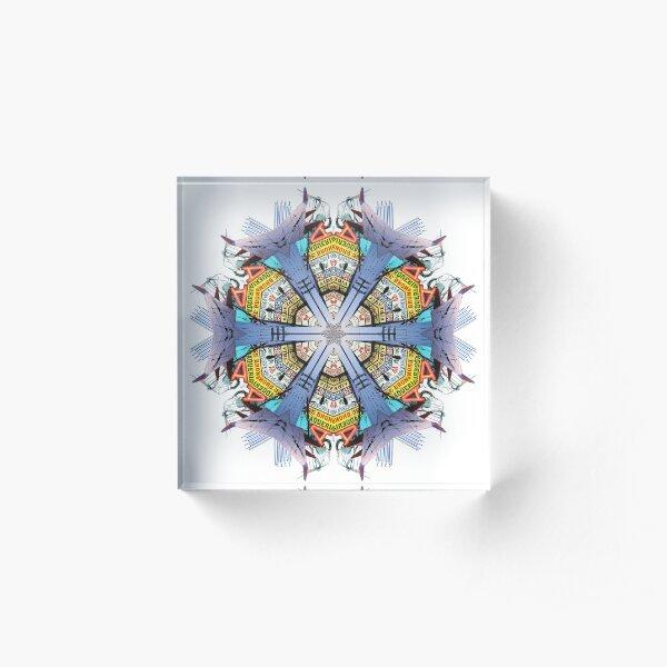 Taqueria Power Mandala Acrylic Block