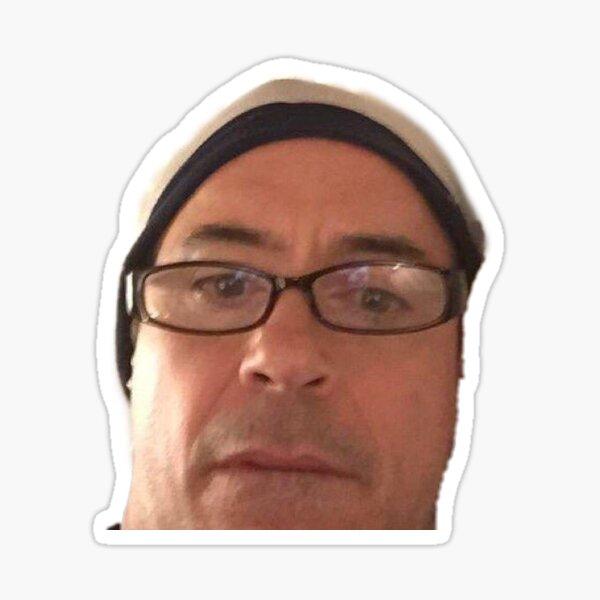 confus Robert Downey Jr Sticker