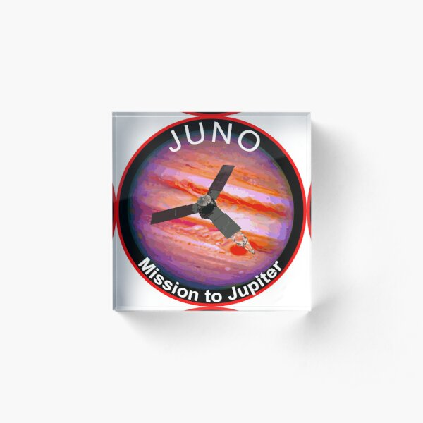 JUNO NASA Mission to Jupiter Concept Patch Acrylic Block
