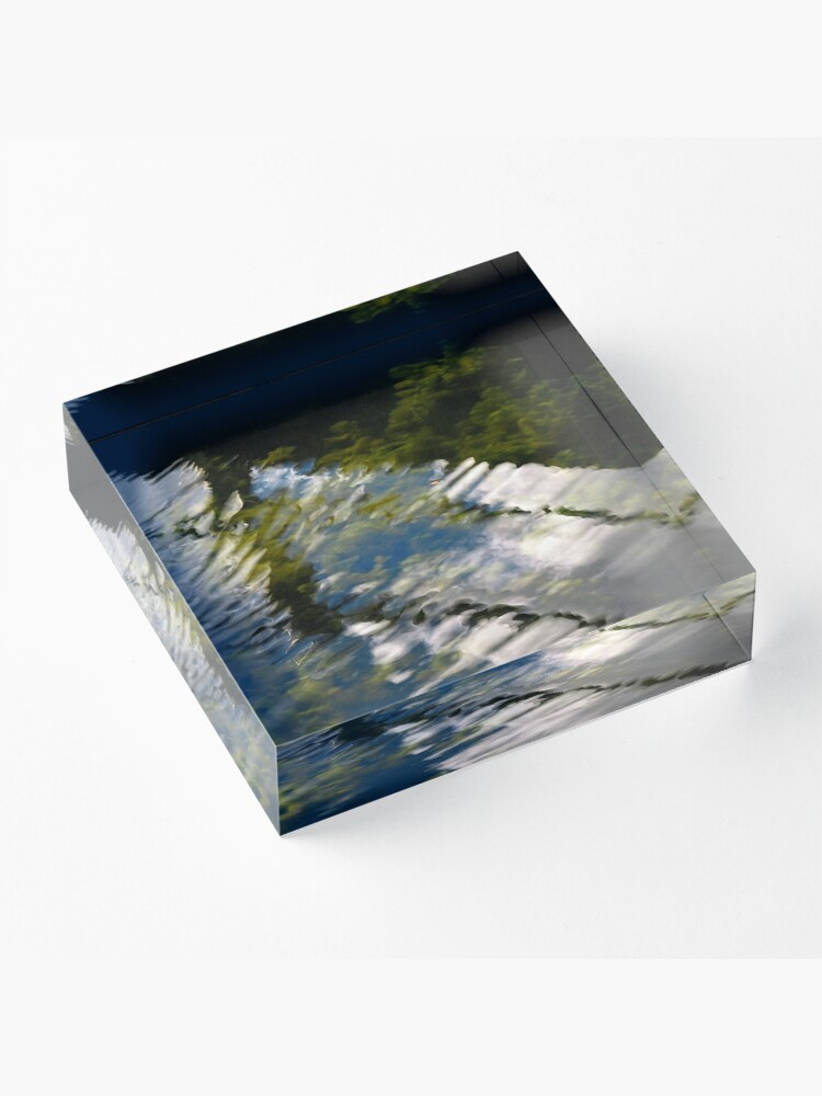 Alternate view of Lake reflections Acrylic Block