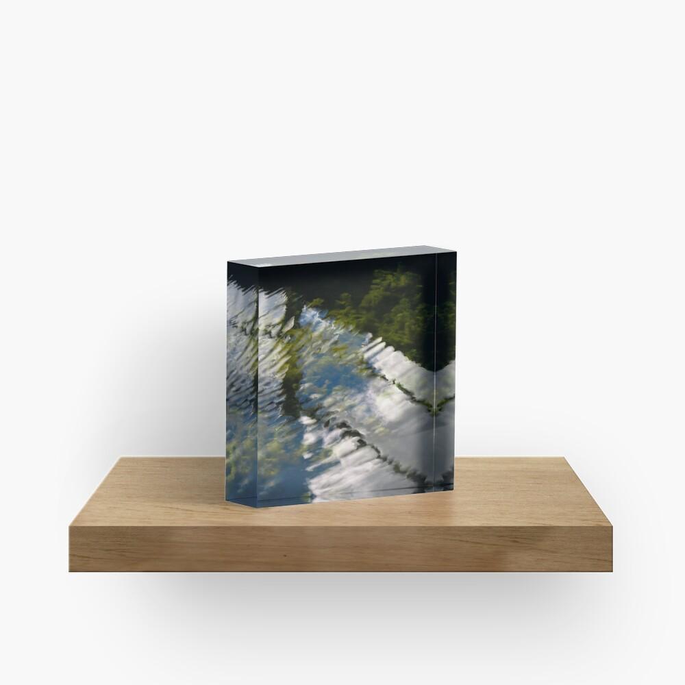 Lake reflections Acrylic Block