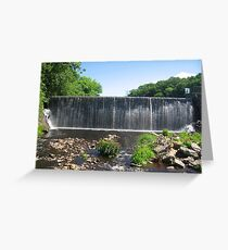 Pachaug River Dam, Route 201 Greeting Card
