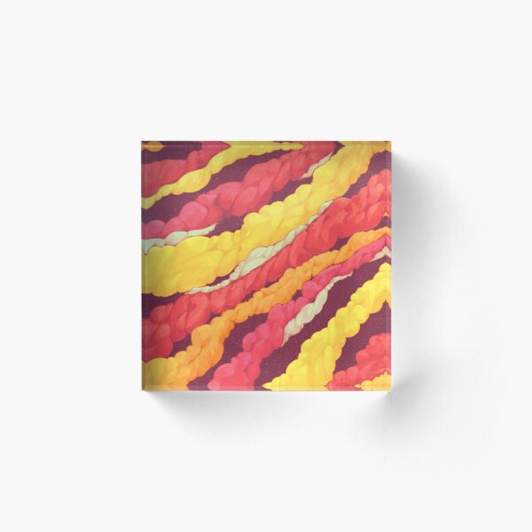Colourful Smoke Acrylic Block