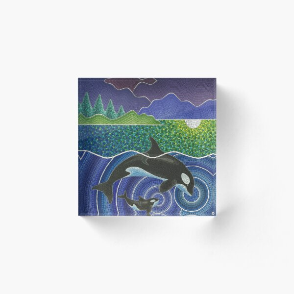 Orca Sonic Love Acrylic Block