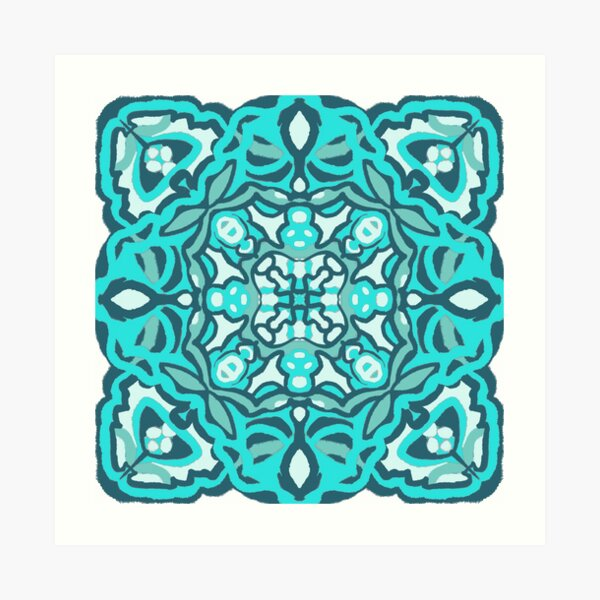 Garden of Teal Art Print