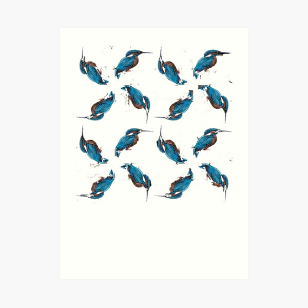 Kingfisher Pattern Art Print