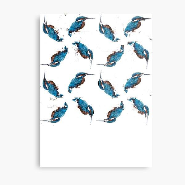 Kingfisher Pattern Metal Print