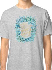 Zelda Fitzgerald – Blue & Gold on Charcoal Classic T-Shirt