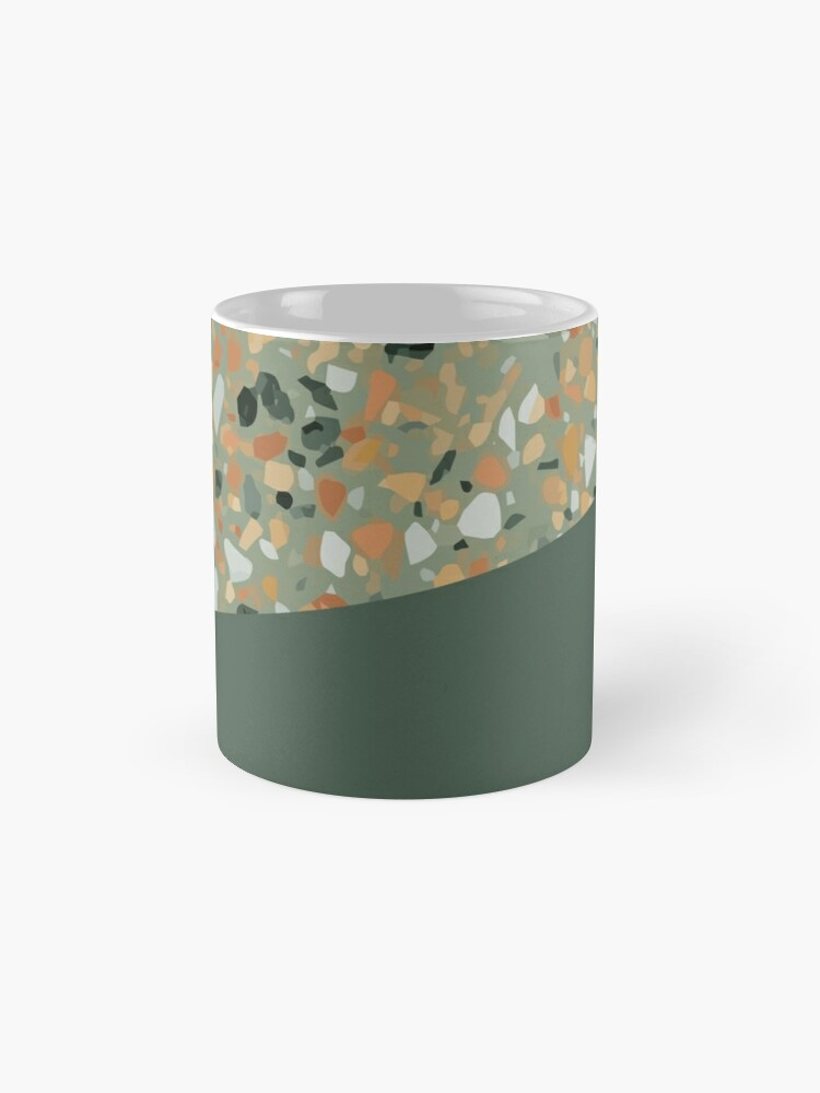 Alternate view of Terrazzo Texture Military Green #4 Mug