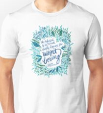Zelda Fitzgerald – Blue on White Unisex T-Shirt