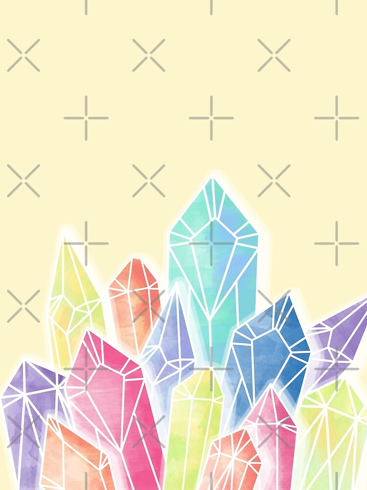 Crystals Yellow by PrintablesP