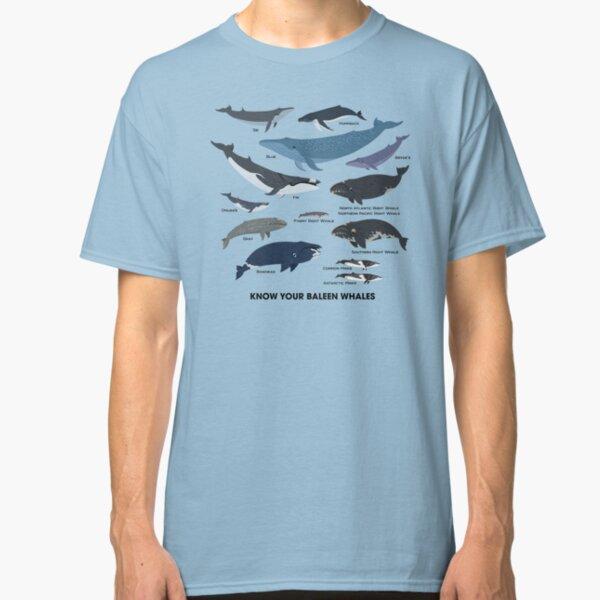 Connaissez vos baleines à fanons T-shirt classique