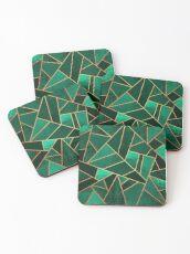 Emerald and Copper Coasters