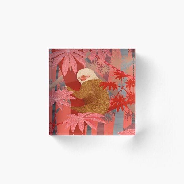 Technicolor Jungle 2 Acrylic Block