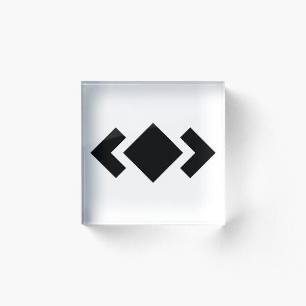 Madeon Adventure Logo - Black Acrylic Block