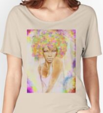 The girl with new hair style Women's Relaxed Fit T-Shirt