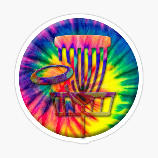 Tie Dye Disc Golf  Sticker