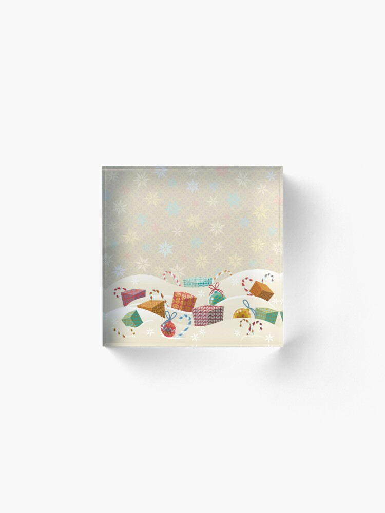 Alternate view of Winter Gifts Acrylic Block