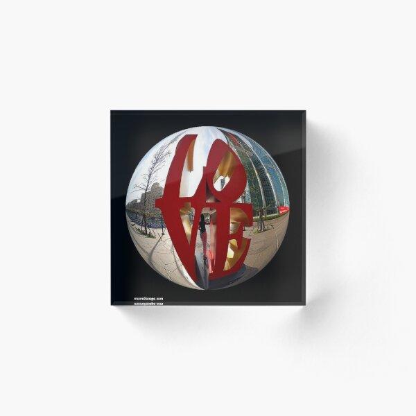 A Ball of Love Acrylic Block