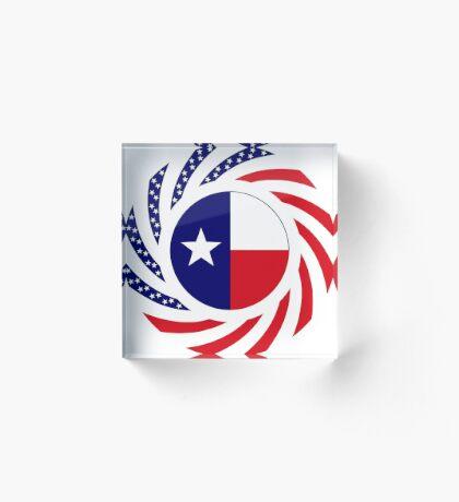 Texan Murican Patriot Flag Series Acrylic Block