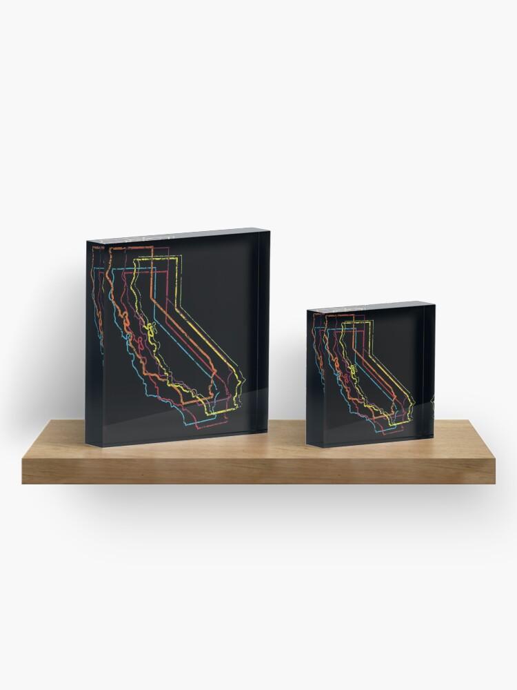 Alternate view of california pride blur Acrylic Block